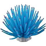 Weiches Plastik Koralle Aquarium Dekoration 9CM blau neu