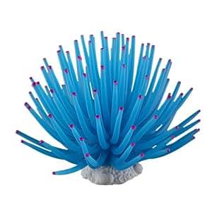 fitTek® Weiches Plastik Koralle Aquarium Dekoration 9CM blau neu [Misc.]