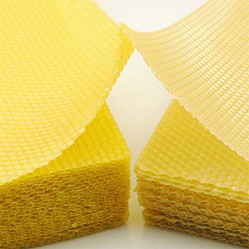 Bienenwachs-basis (SIXCUP Bienenwachs   DIYBienenwachs-Blatt-Kerzen selber Machen  100% reines Bienenwachs   Ausgezeichnete Tiefe Hausnest Honig Nest Basis Biene Spezielle Bienenwachs (Gelb))