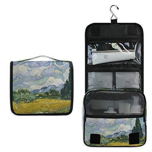 DOSHINE Weizenfeld-Zypressen Van Gogh Hängende Kulturtasche Große Aufbewahrungstasche Kosmetiktasche für Frauen Mädchen Reisen Badezimmer -
