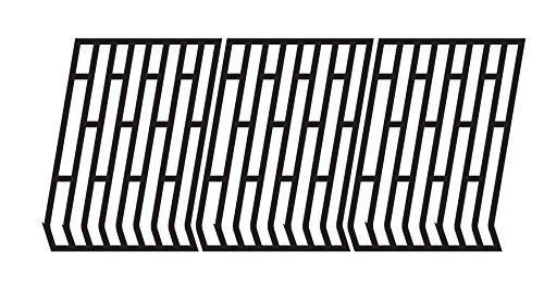 Music City Metals 65693 Grillrostset aus mattem Gusseisen für Gasgrills der Marke Fiesta - Schwarz (2-teilig)