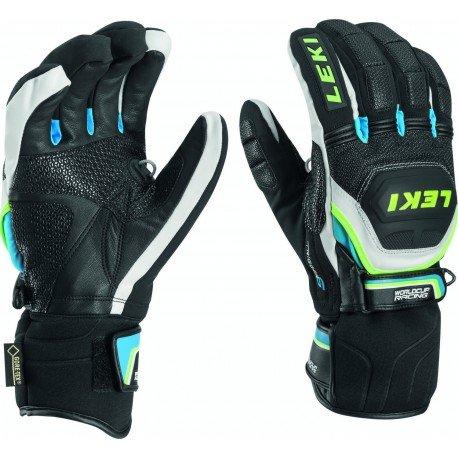 Leki Handschuhe Wc Race Coach Flex Gtx Blk/Wht/Cyan/Yell 9d