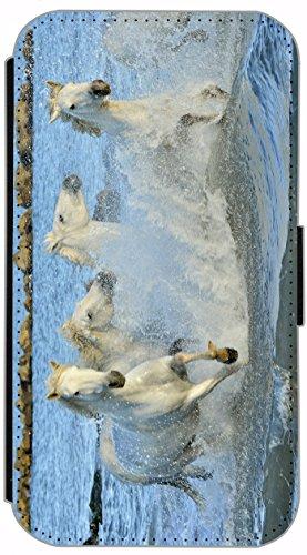 Flip Cover für Apple iPhone 5 5s Design 542 Crazy Dog / Hund mit Handy Grün Braun Weiß Hülle aus Kunst-Leder Handytasche Etui Schutzhülle Case Wallet Buchflip (542) 536