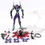Yvonnezhang Revoltech Evolution Test Typ-01 Neon Genesis Evangelion Figur Eva mit LED-Licht PVC Actionfiguren Sammlermodell Spielzeug, im Beutel
