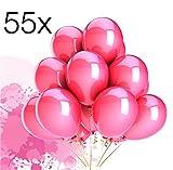 TK Gruppe Timo Klingler 55x Luftballons Ballons Luftballon für Luft und Helium in Farben pink/fuchsia für Dekoration Deko an Hochzeit, Geburtstag, Party, Partydekoration Hochzeitsdeko, Mädchen uvm.