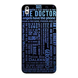 Blue Doc Angel Back Case Cover for HTC Desire 816g