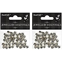Itsy Bitsy Metal Jewelry Findings Metal Spacers, 8mm, Pack of 2
