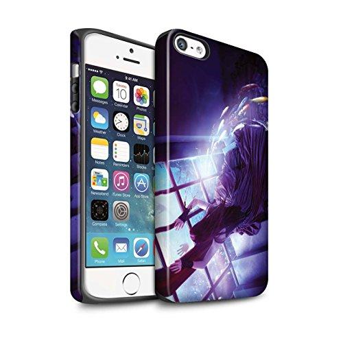 Officiel Elena Dudina Coque / Matte Robuste Antichoc Etui pour Apple iPhone 5/5S / Mer Profonde/Hippocampe Design / Agua de Vida Collection Laisse Moi Entrer