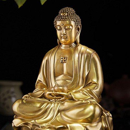 Sakyamuni Buddha-statue (Große Nice Bronze Messing Sakyamuni–Gautama (Amitabha Buddha Statue Figur 25,4cm H)