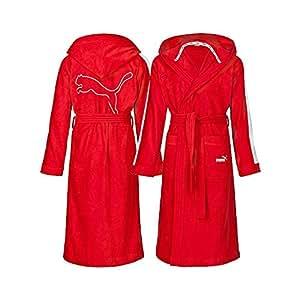 puma bademantel damen herren s m l xl xxl wei rot oder schwarz neu wow rot 2xl. Black Bedroom Furniture Sets. Home Design Ideas