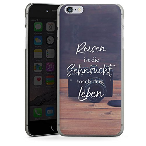 Apple iPhone X Silikon Hülle Case Schutzhülle Reisen Sehnsucht Statement Hard Case anthrazit-klar