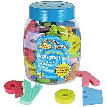 Bathtime Buddies Alphabet Foam Letters Set Wet Stick And Play Includes 65