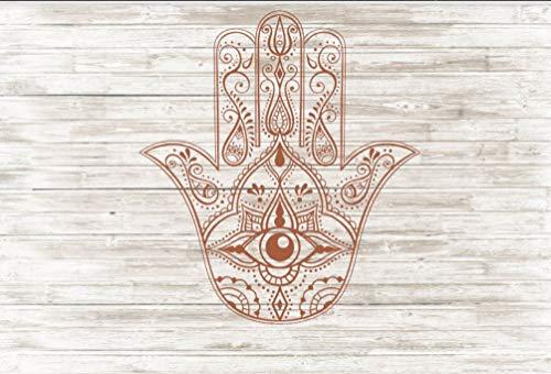 Wandaufkleber, Motiv: Fatima, Rechtshänder, Hinduismus, Muslim, Judentum, Schutz, Böser Blick, Wards of Evil/Religiös, Hochglättend, dekorativ, einfach anzubringen und zu entfernen
