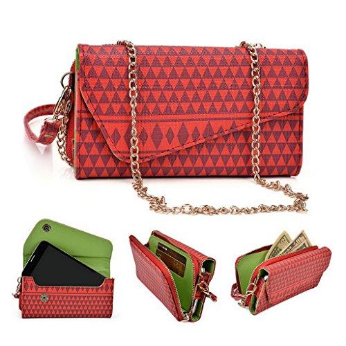 Kroo Pochette/étui style tribal urbain pour Blu Life One/Studio 5.0C HD Multicolore - rouge Multicolore - rouge