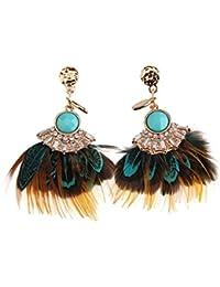 d58b5f617 Kiwi 3: National Style Luxury Retro New Feather Earrings Female Earrings  Temperament