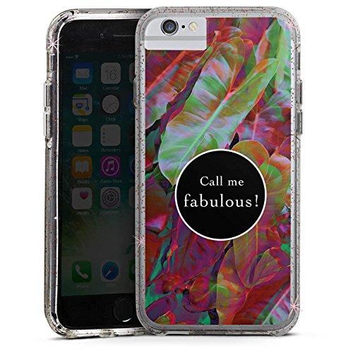 Apple iPhone X Bumper Hülle Bumper Case Glitzer Hülle Fabulous Bunt Colourful Bumper Case Glitzer rose gold