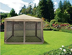 galileo 2179286 dakar gazebo con zanzariera ferro 3x3 mt tortora giardino e. Black Bedroom Furniture Sets. Home Design Ideas
