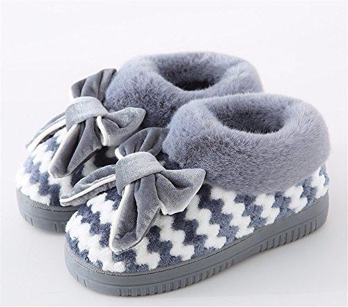 YMFIE Ladies' pantofole in autunno e in inverno cotone incantevole di pantofole e di scarpe I