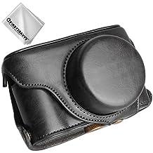 First2savvv nero Qualità premium Custodia Fondina in pelle sintetica per macchine fotografiche reflex compatibile con Fujifilm X100F XJPT-X100F-01G11
