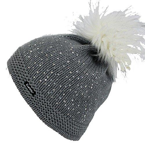 Eisbär Mütze - Gloria Lux Crystal mit Swarovski-Elementen (grau)