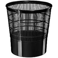 Cep 1002370011 - Papelera con rejilla, 16 l, color negro