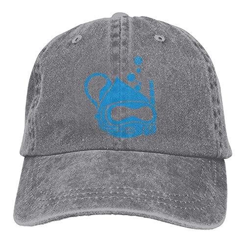 GHEDPO Dive Denim Baseball Caps Hat Adjustable Cotton Sport Strap Cap for Men Women