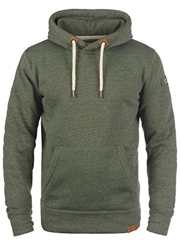 !Solid TripHood Herren Kapuzenpullover Hoodie Pullover Mit Kapuze Und Fleece-Innenseite, Größe:S, Farbe:Climb Ivy Melange (8785)