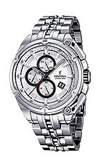 Idea Regalo - Festina-Chrono 2015-Orologio da uomo al quarzo con Display con cronografo e cinturino in acciaio INOX color argento/F16881 1