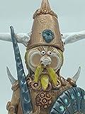 Re Vichingo in cotto con scudo color bronzo
