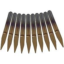 Cnbtr 20gradi 0.5mm titanio carburo cementato incisione di CNC router Tools 1/20,3cm gambo, 10pezzi