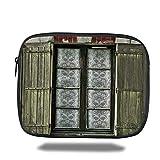 Juzijiang Tablet Bag for Ipad air 2/3/4/mini 9.7 inch,Shutters Decor,European French...