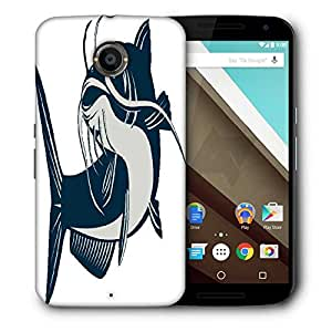 Snoogg Catfish Jumping Designer Protective Back Case Cover For Motorola Nexus 6