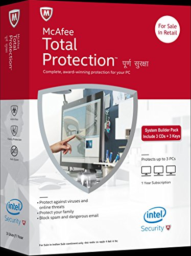 McAfee Total Protection - 3 Users, 1 Year (CD)