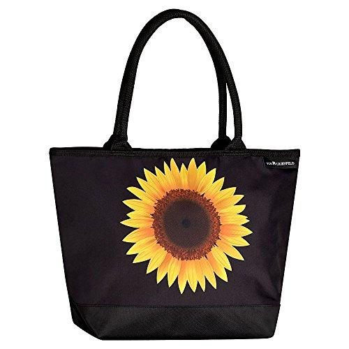 (VON LILIENFELD Tasche Damen Henkeltasche Shopper Bedruckt Motiv Sonnenblume)