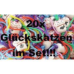 20x chinesische Glückskatzen Glückspuppen Glücksbringer Sorgen Puppen