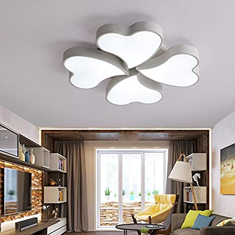 Modernes, einfaches, herzförmiges Bügeleisen-Unterputz-Deckenleuchte für Wohnzimmer, Schlafzimmer, Korridor, Veranda, schwarz , white
