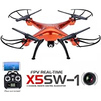 Syma X5SW FPV Explorers2 2.4Ghz 4CH 6-Axis Gyro RC Headless Quadcopter Drone UFO with HD Wifi Cámara Rojo