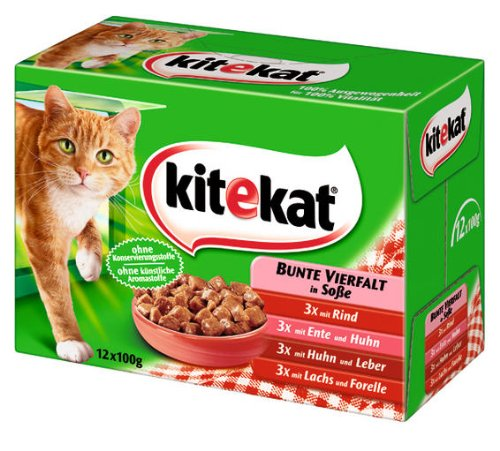 Kitekat Bunte Vierfalt in Soße 4x(12x100g) - Katzenfutter
