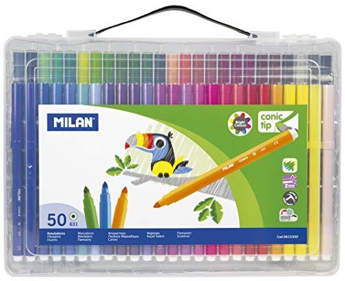 Milan 0615350Y - Pack de 50 rotuladores