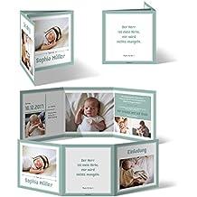 Taufeinladungen (20 Stück)   Bildreich Im Wickelfalz   Taufkarten Taufe  Einladungskarten