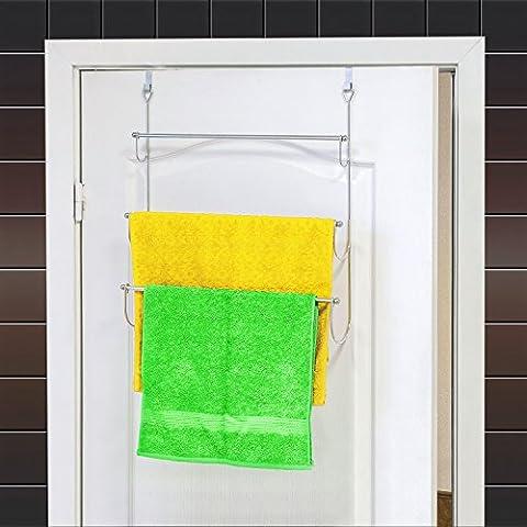 ArtMoon Above Porte-Serviettes 3 Niveaux à Accrocher sur Porte avec 2 Crochets en Acier Chromé 45X10.5X69H cm
