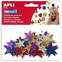 Apli Eva - Bolsa 50 formas adhesivas de purpurina de estrellas