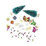 MagiDeal 1/12 Puppenhaus Miniatur Weihnachten Dekoration Zubehör Set - Mehrfarbig