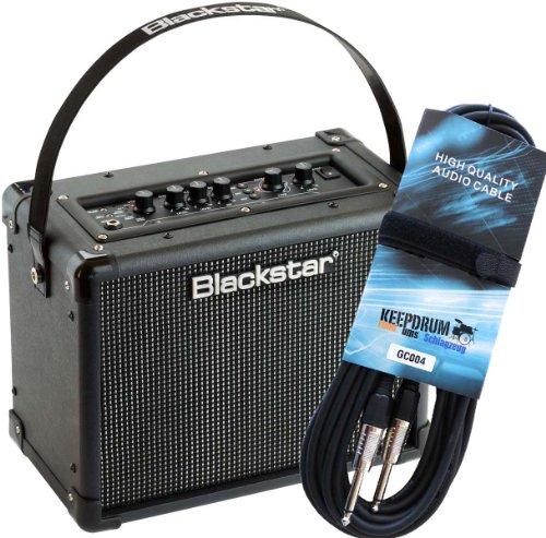 Blackstar ID Core 10 Stereo Combo Gitarren-Verstärker + keepdrum Gitarrenkabel 6m
