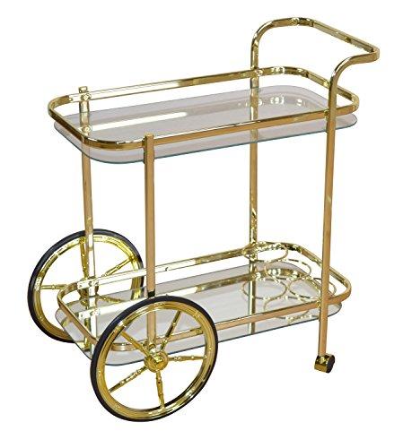 Goldener Servierwagen