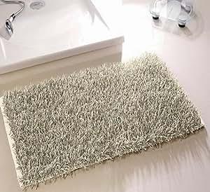 langflor zottel teppich f r bad und wohnraum 60x100 cm waschbar creme k che haushalt. Black Bedroom Furniture Sets. Home Design Ideas