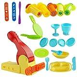 Kare & Kind Kit d'outils pour pâte à modeler avec outils d'extrusion et ensemble d'heure du déjeuner (Kare and Kind Retail Packaging) - Couleur assortie (Outils d'extrudeuse)