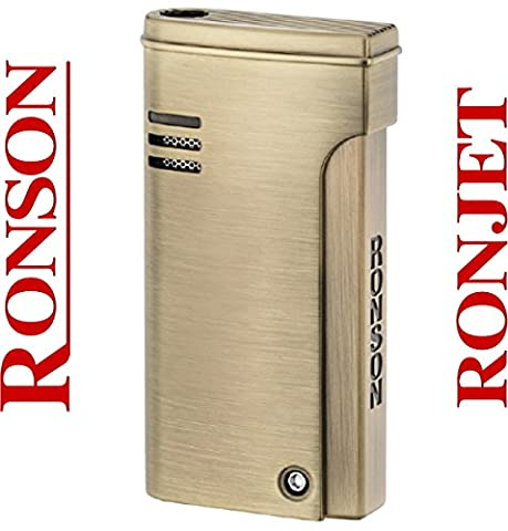 Ronson Dalliance Ronjet Brass Satin Jet Torch Flame Lighter New
