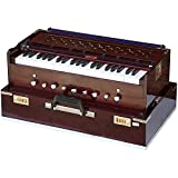 Harmonium Bina n.17 Deluxe, Modello professionale Portatile, 3 ottave e mezzo, 440 Hz, Funzione coupler