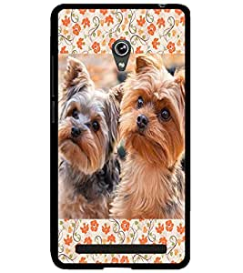 ColourCraft Cute Puppies Design Back Case Cover for ASUS ZENFONE 6 A600CG